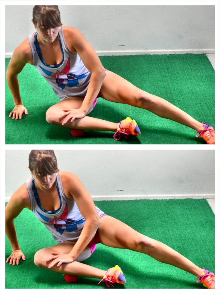 side-of-shin-foam-rolling