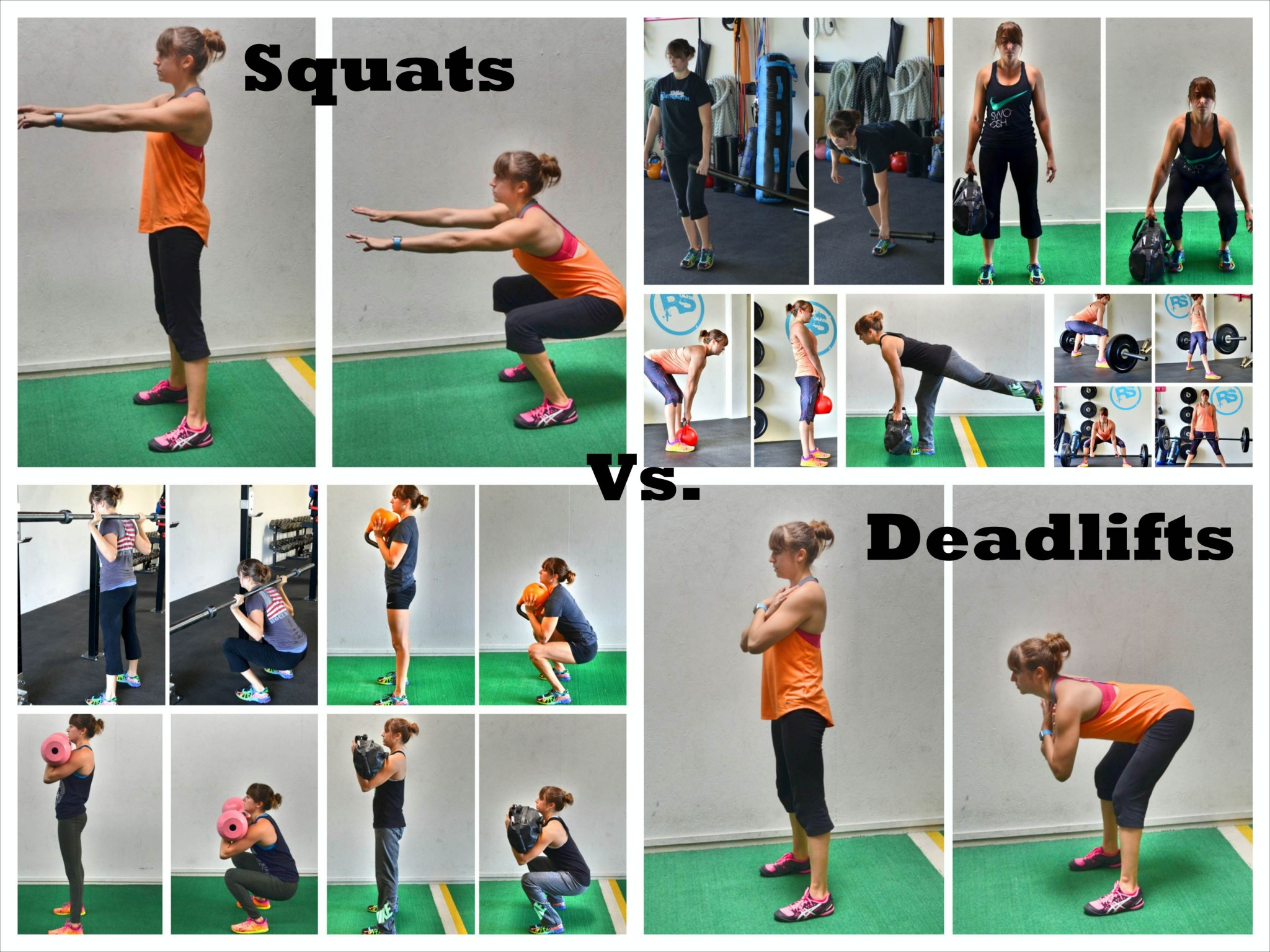 the difference between squats and deadlifts