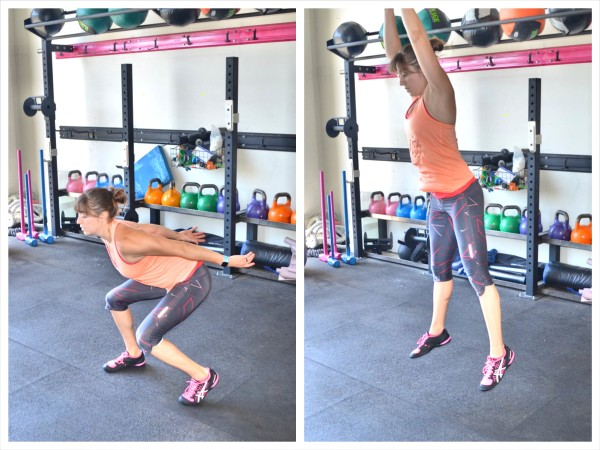 staggered stance squat jumps
