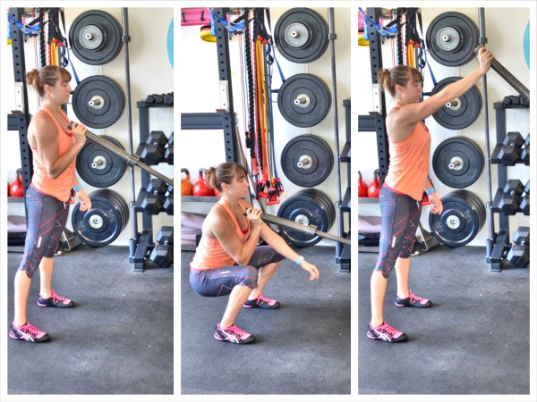 single arm squat and press