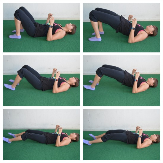 glute to hamstring bridge series