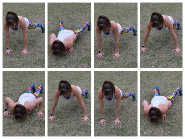 lateral crawl push up