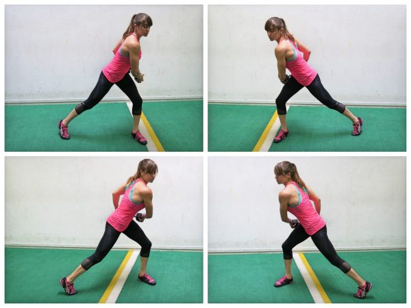 side lunge with rotation