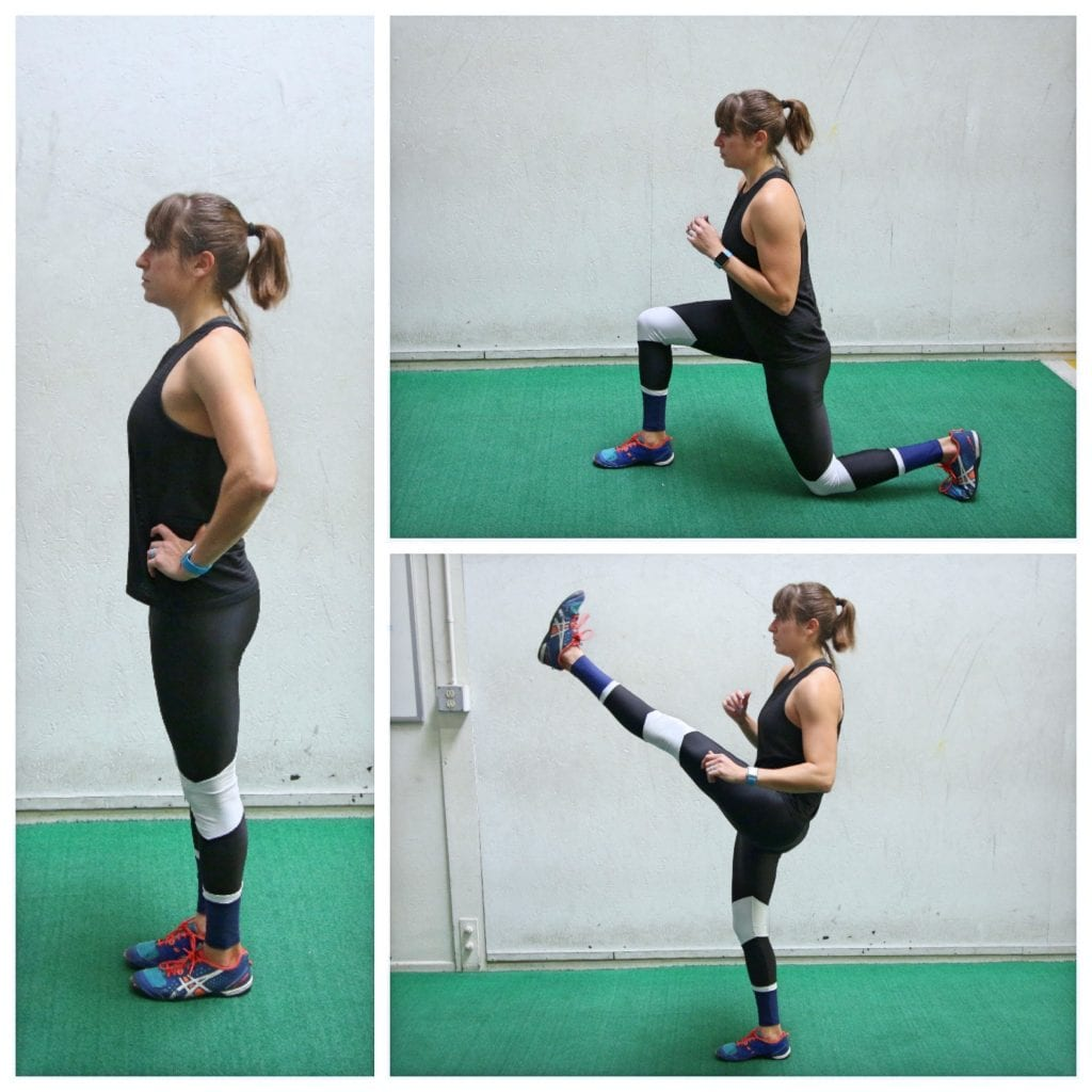 lunge to kick