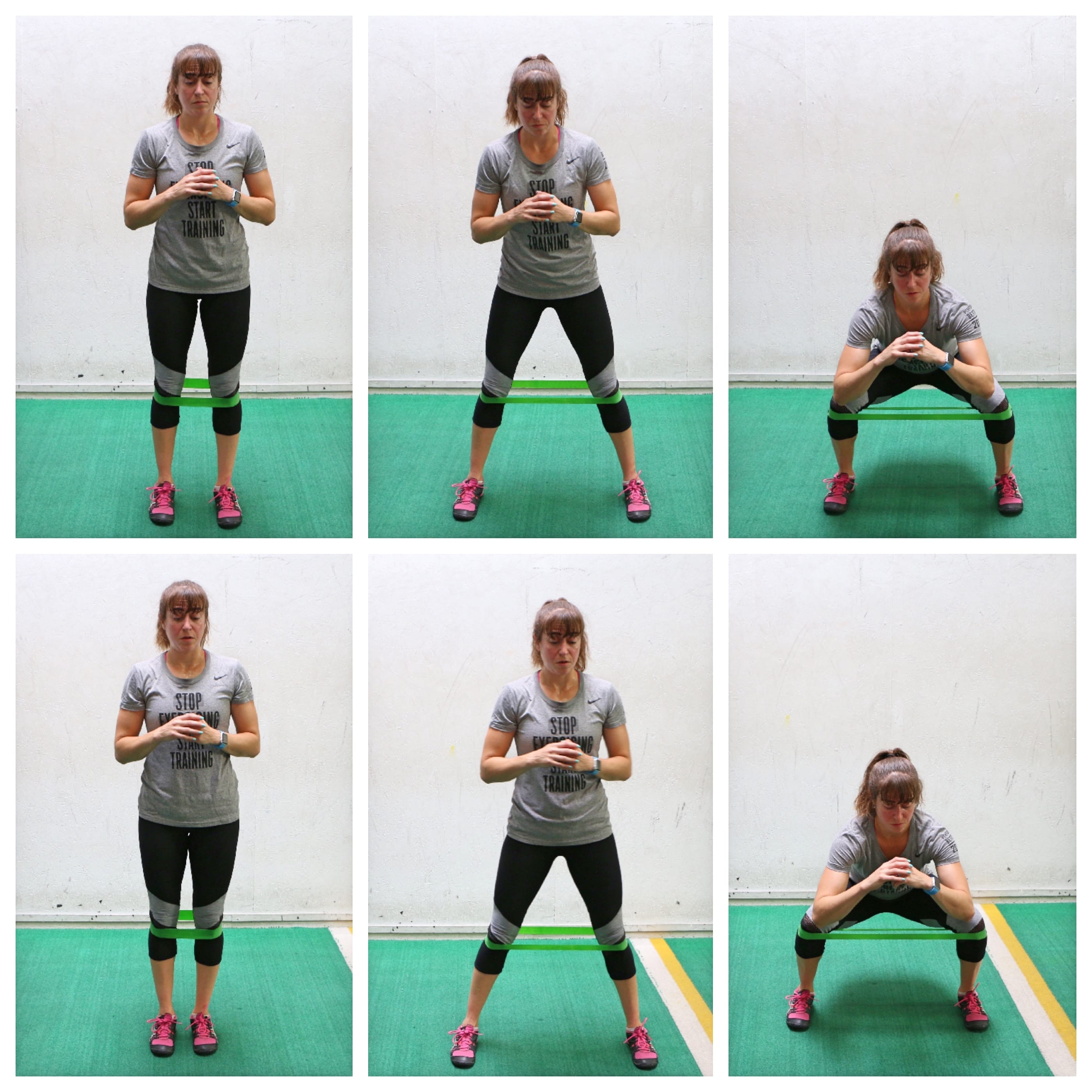 mini band side step squat