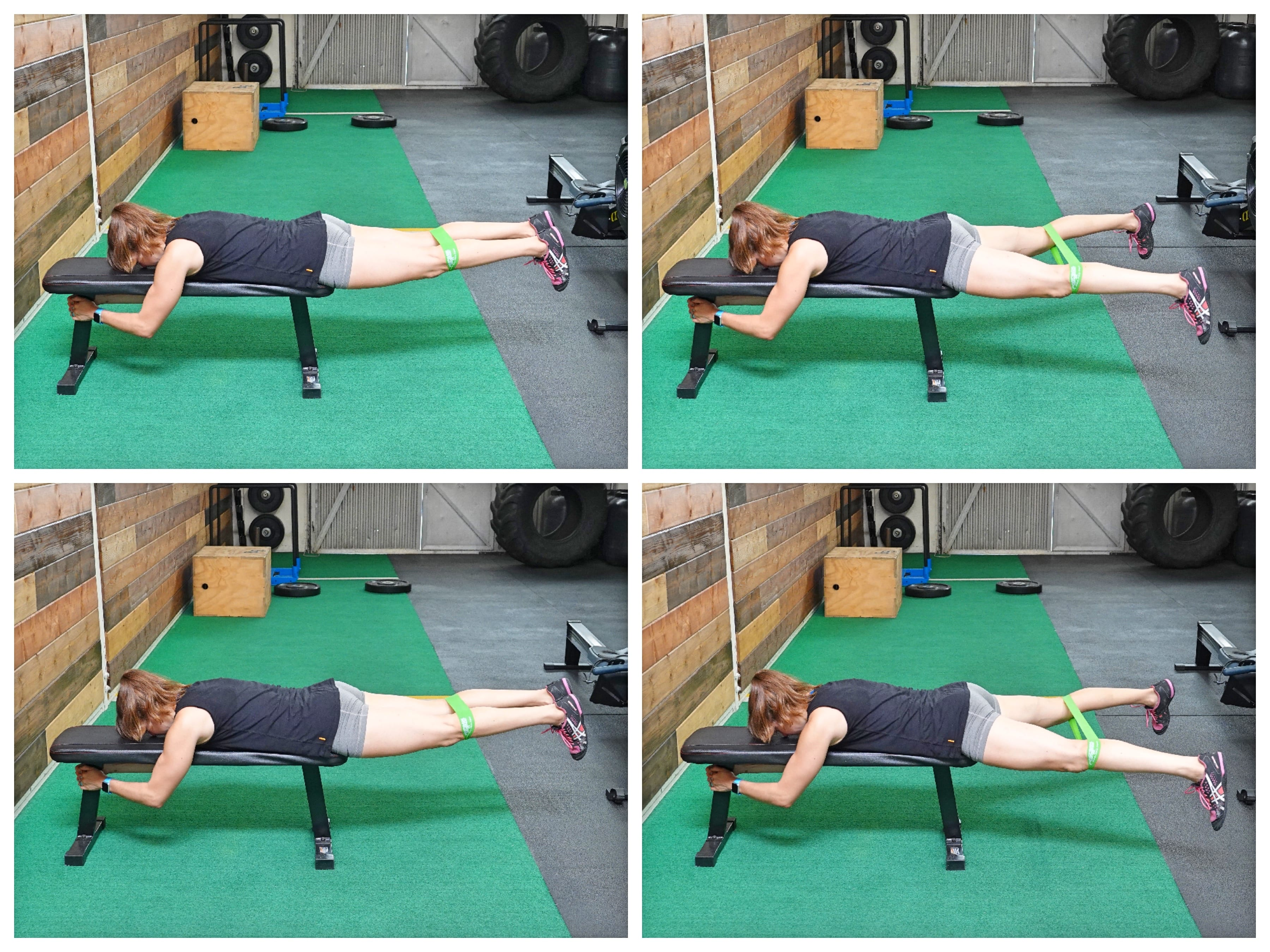 lying glute activation