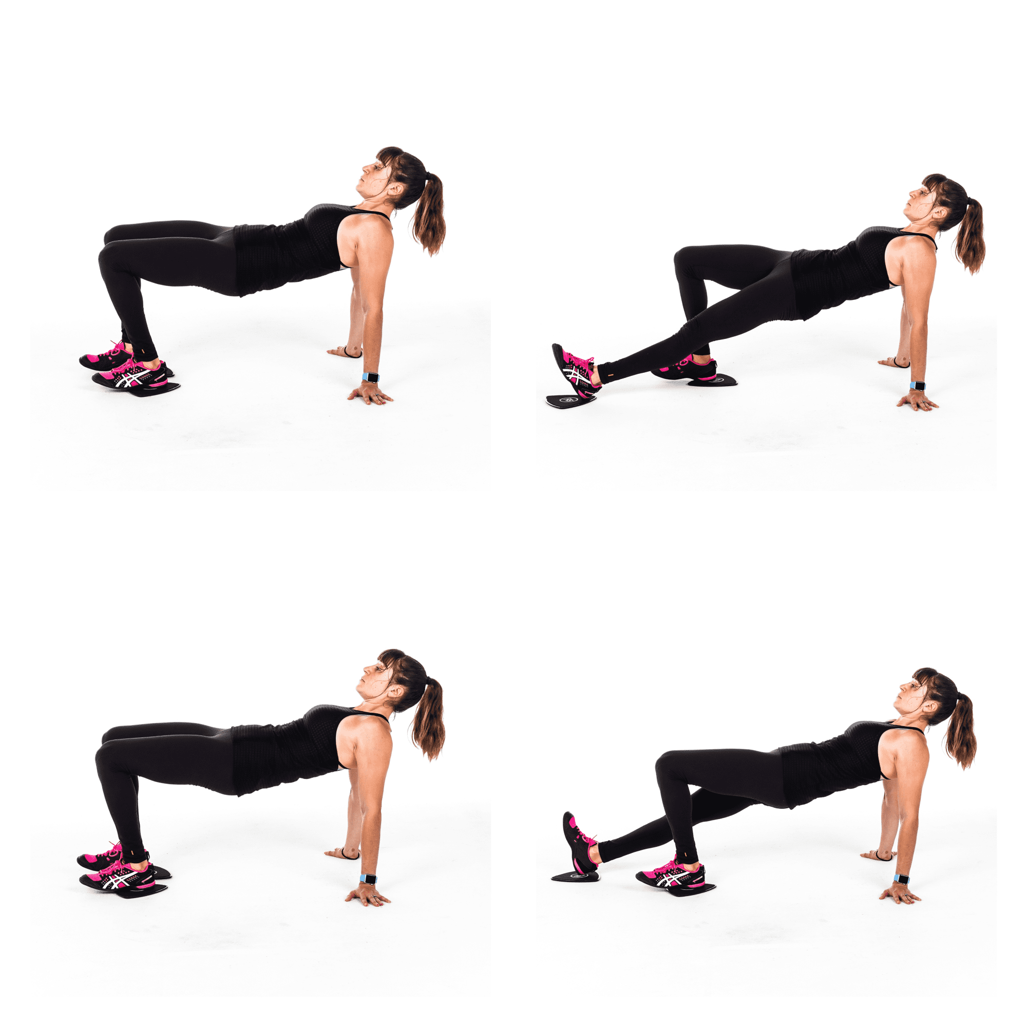 hamstring and glute slider exercise