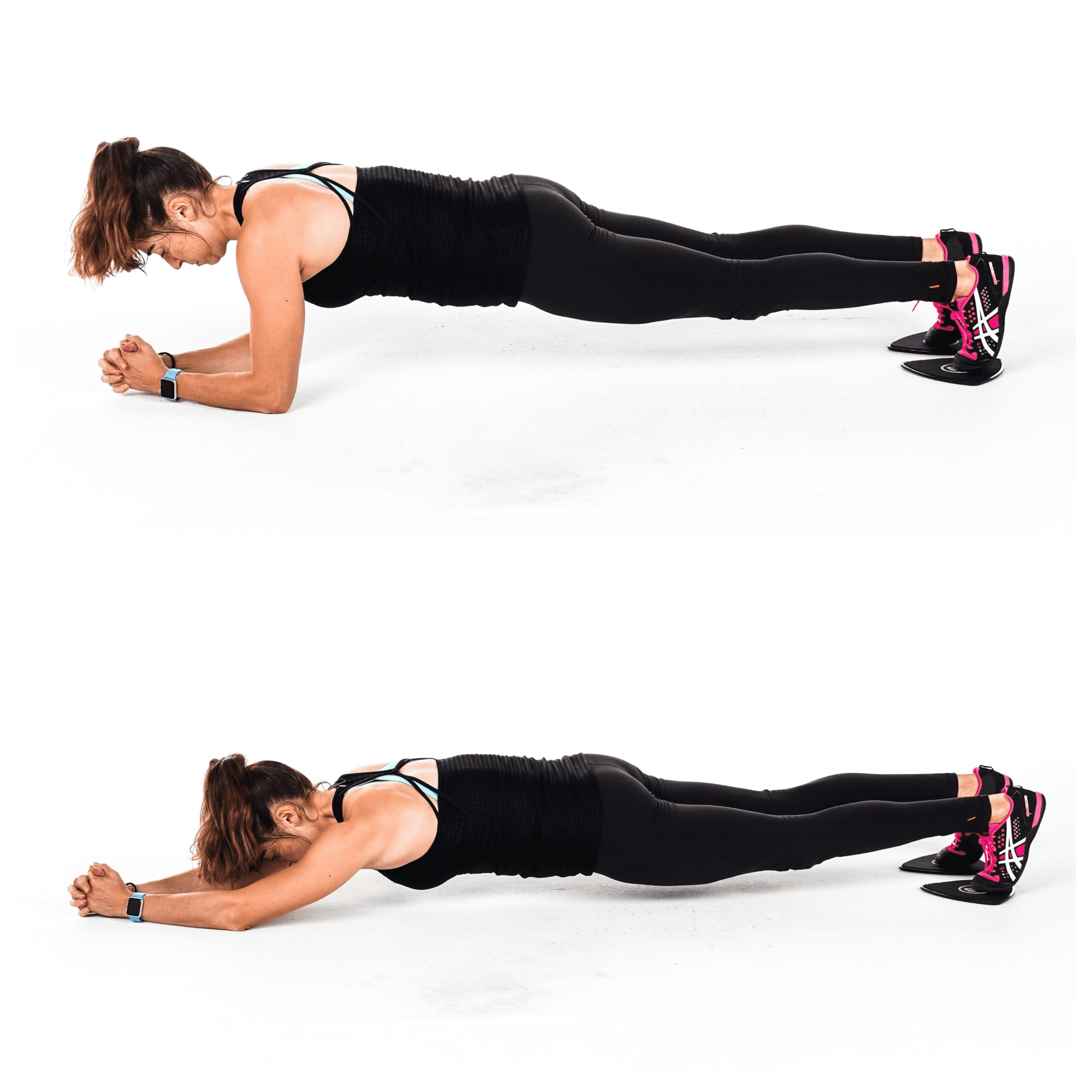 slider body saw plank exercise