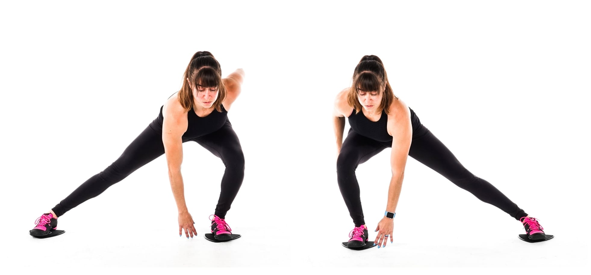 slider side lunges